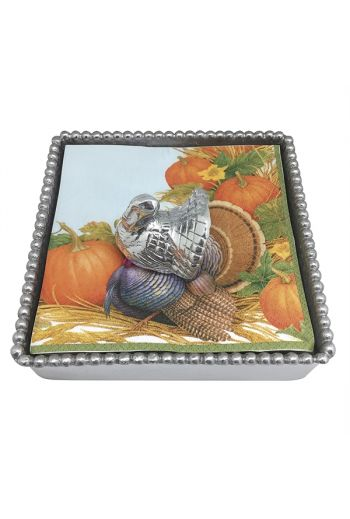 Turkey Beaded Napkin Box