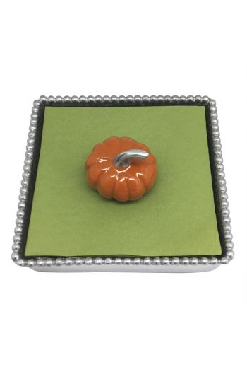Orange Pumpkin Beaded NapkinBox