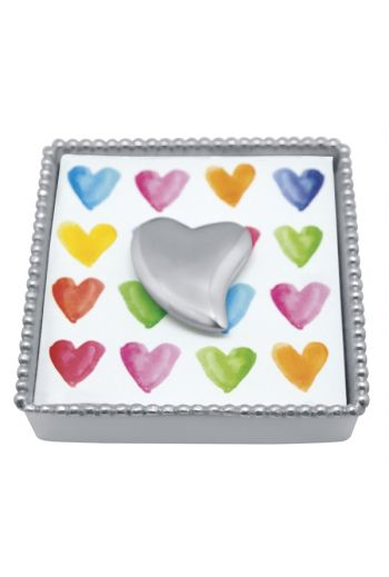 Heart Beaded Napkin Box