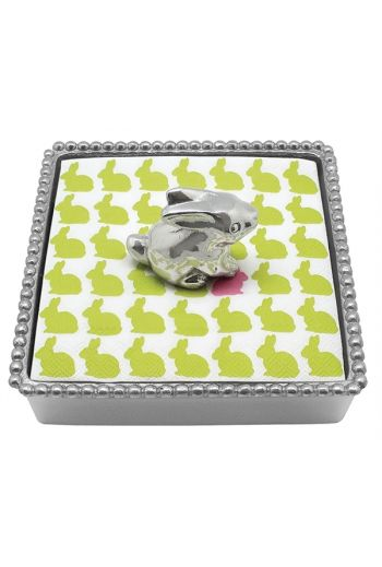 Bunny Beaded Napkin Box