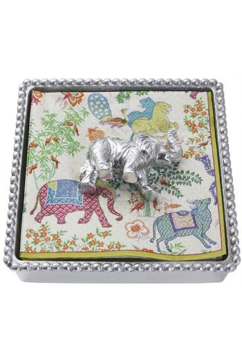 Elephant Beaded Napkin Box