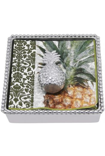 Pineapple Beaded Napkin Box