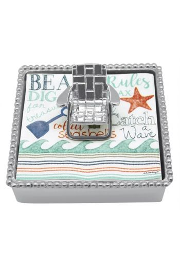 Beach Chair Beaded Napkin Box
