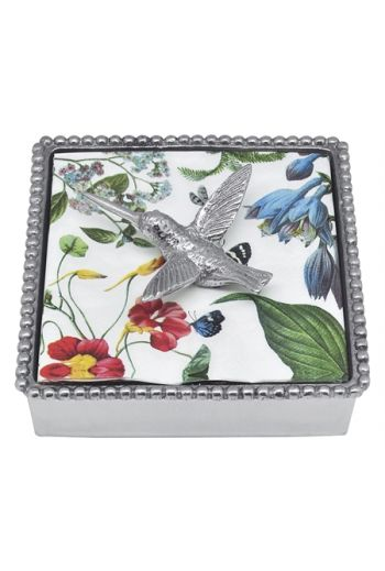 Hummingbird Beaded Napkin Box