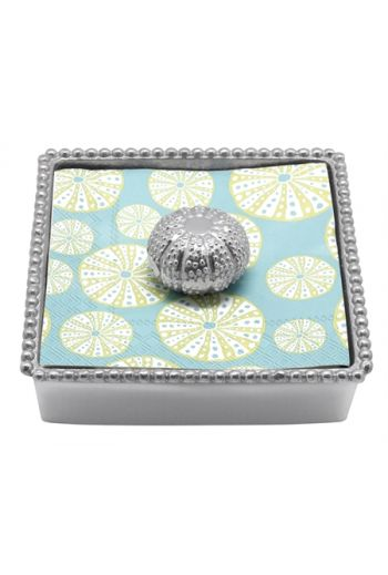 Sea Urchin Cocktail Napkin Box NEW NAPKIN