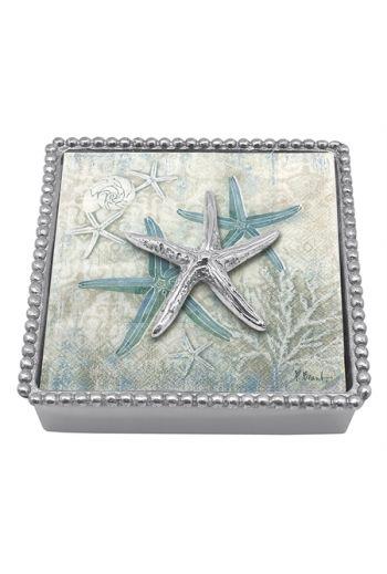 Spiny Starfish Beaded Napkin Box