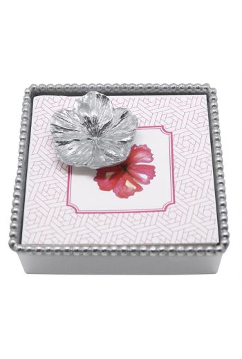 HIBISCUS BEADED NAPKIN BOX