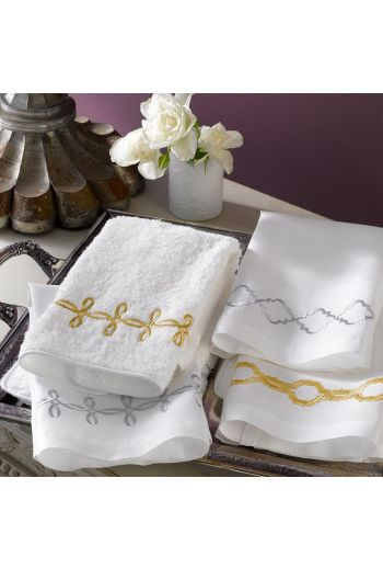 MATOUK Gordian Knot Guest Towels on Linen 17x21 (Set of 2) - Available in 2 Colors