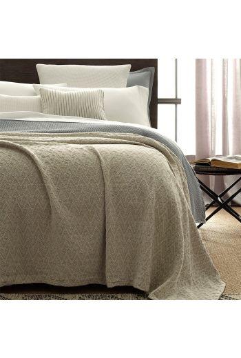 MATOUK Santos Twin Blanket 72x99 - Available Color: Linen