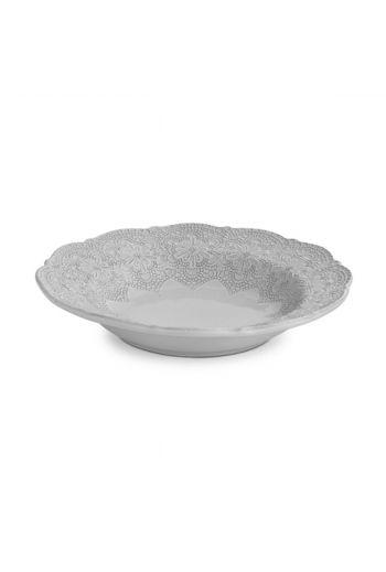 Arte Italica Merletto White Pasta/Soup Bowl