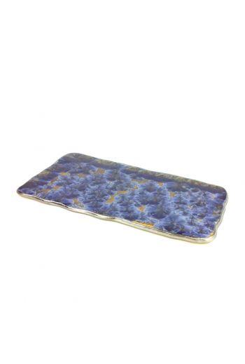 """Wainwright Borealis Frost Blue Medium Tray - 16'' X 9"""""""