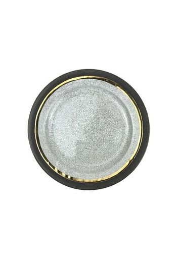 "Wainwright Raku Gold Dinner Plate - 10.75"" diameter"