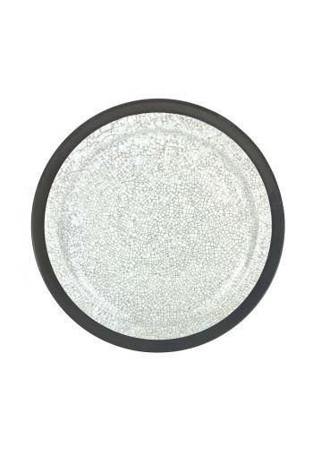 """Wainwright Raku Dinner Plate (No Metal) - 10.75"""" diameter"""