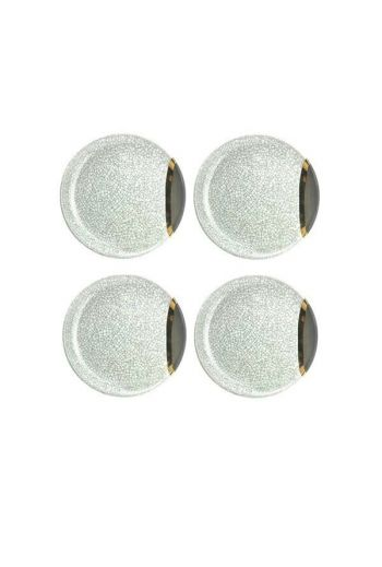 "Wainwright Raku Gold Dessert/Appetizer Plate, Set of 4 - 6.25"" diameter"