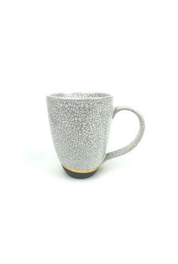 "Wainwright Raku Gold Mug - 3.5"" d x 5"" h"