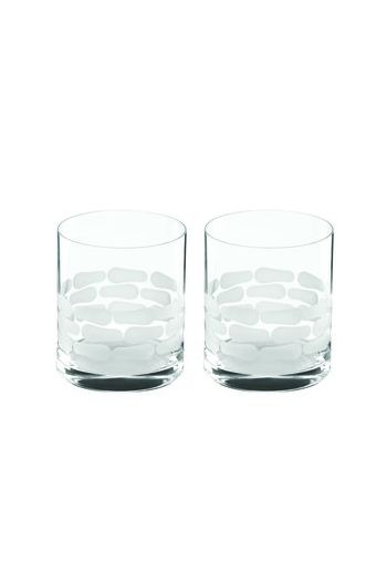 "Wainwright Truro Clear Glass Double Old Fashioned, Set of 2  - 4"" height  14 oz"