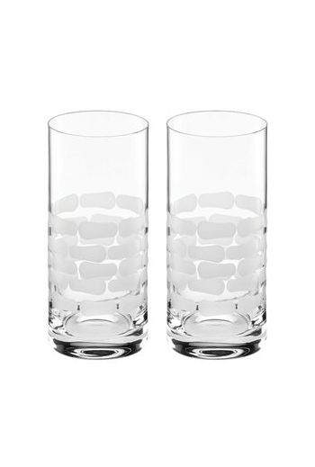 "Wainwright Truro Clear Glass Highball, Set of 2  - 6.3"" height  15 oz"