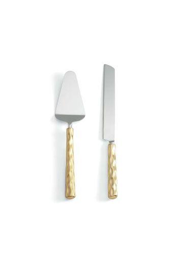 "Wainwright Truro Gold Cake Knife & Server - 12.5"""