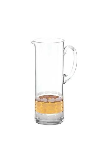 "Wainwright Truro Gold Glass Pitcher - 12"" x 4"""