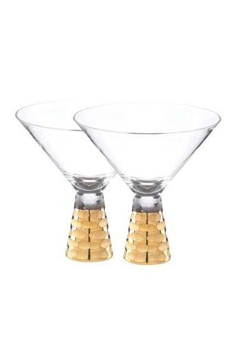 "Wainwright Truro Gold Martini, Set of 2 - 5"" height  8 oz"