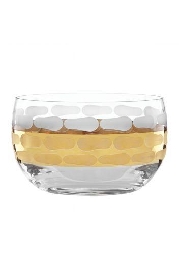 "Wainwright Truro Gold Medium Glass Bowl - 5"" x 3"""