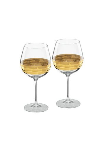 "Wainwright Truro Gold Red Wine, Set of 2 - 8.5"" height  20.5 oz"
