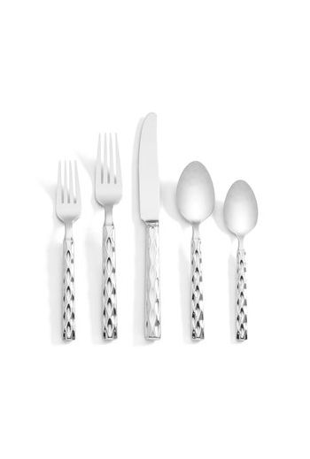 "Wainwright Truro Platinum 5 Piece Place Setting  - 9.25"", 8.25"", 7.25"", 7"", 6.25"""