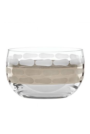 "Wainwright Truro Platinum Medium Glass Bowl - 5"" x 3"""