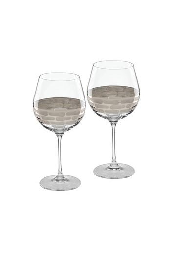 "Wainwright Truro Platinum Red Wine, Set of 2 - 8.5"" height  20.5 oz"