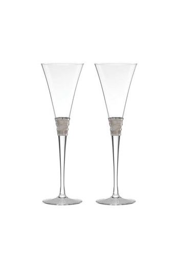 Wainwright Truro Platinum Toasting Flute, Set of 2 - 8 oz