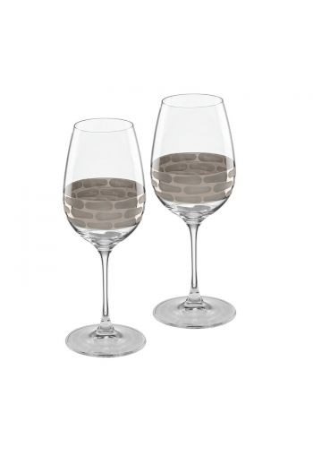 "Wainwright Truro Platinum White Wine, Set of 2 - 9"" height  15.25 oz"