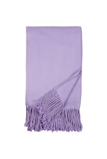 Malibu Luxxe Fringe Throw -  Lavender