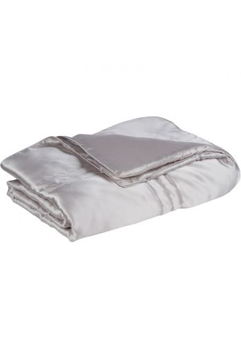 100% Mulberry Silk Throw Grey-ML05SKGY