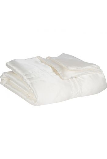 100% Mulberry Silk Throw - White