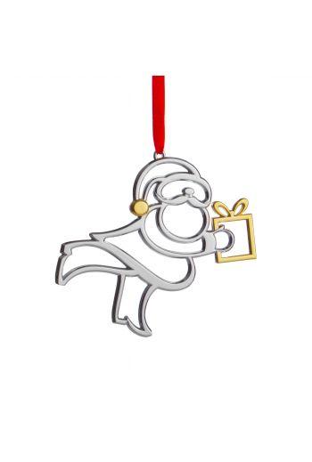 "Holiday - Santa Ornament  4"" W. X 4.5"" H."