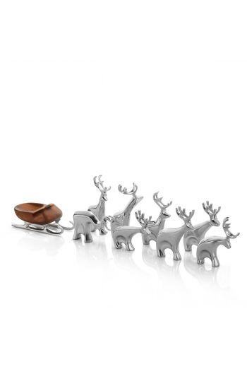 Holiday - Miniature Reindeer Set, 9 Pieces