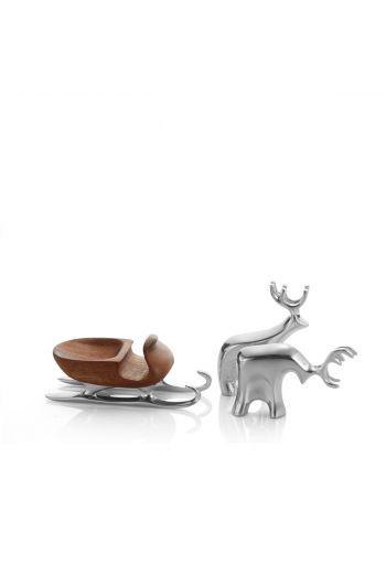Holiday - Miniature Sleigh w/ Reindeer