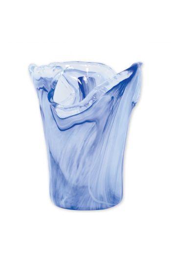 Vietri Onda Glass Cobalt Small Vase