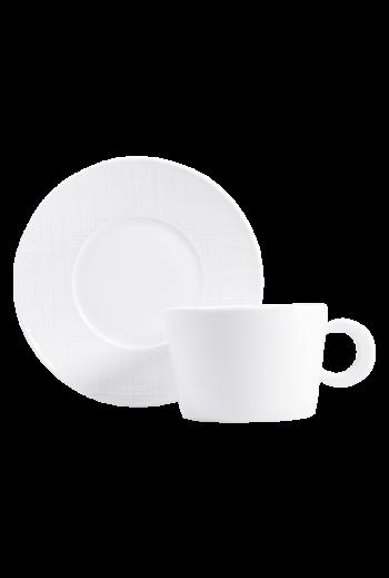 Bernardaud Organza Breakfast Cup & Saucer - Holds 9 oz