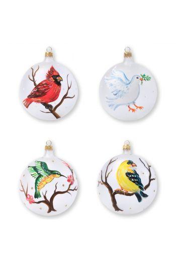Vietri Ornaments Birds Assorted Ornaments - Set of 4