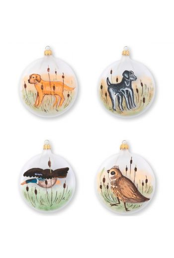 Vietri Ornaments Wildlife Assorted Ornaments - Set of 4