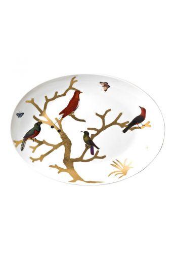 "Bernardaud Aux Oiseaux Oval Platter - 16""x12"""