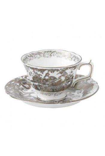 Royal Crown Derby Aves - Platinum Tea Cup