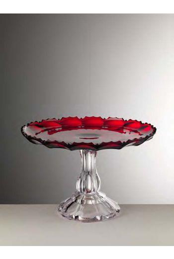 Mario Luca Girasole Cake Plate Red