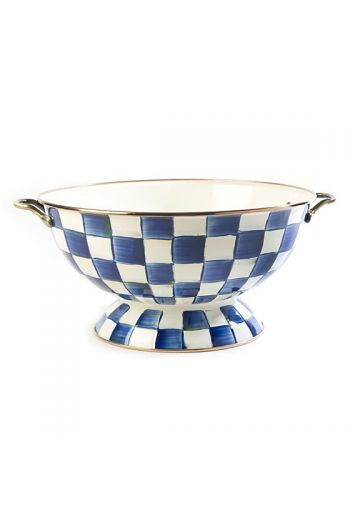 "MacKenzie-Childs Royal Check Everything Bowl -  13"" dia., 16.25"" wide, 6.75"" tall, 26 cup capacity"
