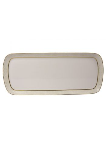Bernardaud Sauvage Or Cake Rectangular Platter- 15""