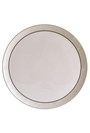 """Bernardaud Sauvage Or Tart Round Platter - 13"""""""