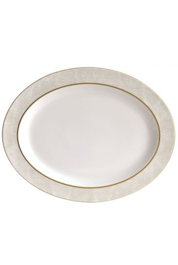 Bernardaud Sauvage Or Oval Platter - 13""