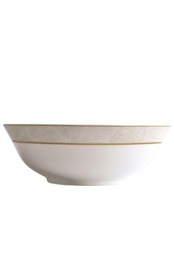 """Bernardaud Sauvage Or Salad Bowl - 10"""""""