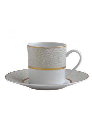 Bernardaud Sauvage Or Espresso Cup and Saucer